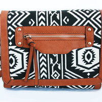 Black and White Aztec Satchel