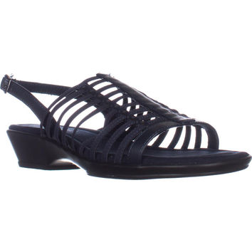 Easy Street Allure Huarache Sandals, Navy, 7.5 US