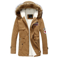 Autumn & winter explosion models men Korean version of Slim Long warm hooded coat Male Casual Thick Outerwear