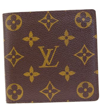 Auth LOUIS VUITTON Marco Bifold Wallet Purse Monogram Leather BN M61675 05EF118