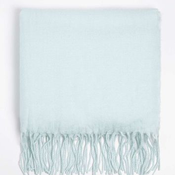 Mint Fluffy Plain Scarf