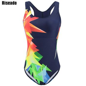 Riseado New Swimwear Women 2018 One Piece Swimsuit Female Sport Competition Swimming Suits for Women Bathing Suits
