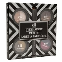 e.l.f. 4 Piece Duo Eyeshadow Set + Brush, 71452W