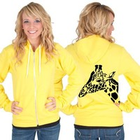 Giraffe American Apparel Zip up Hoodie