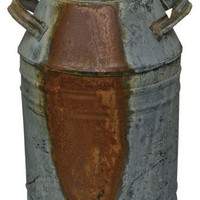 Milk Can - Rustic Galvanized