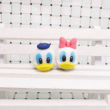 Donald Duck Daisy Pink Bowknot Mickey Disney Dust Plug 3.5mm Phone Accessory Charm Headphone Jack Earphone Cap iPhone 4 4S iPad HTC Samsung