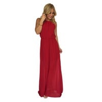 Primetime Maxi Dress In Apple Red