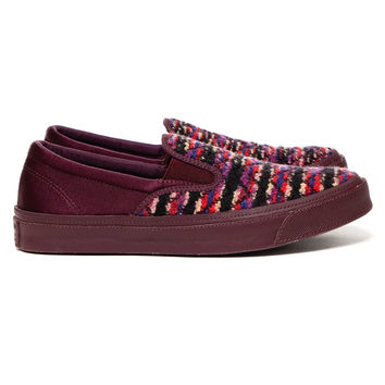 First String x Missoni Deckstar Slip On Burgundy