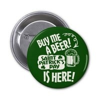 St Patricks Day Partying 2 Inch Round Button