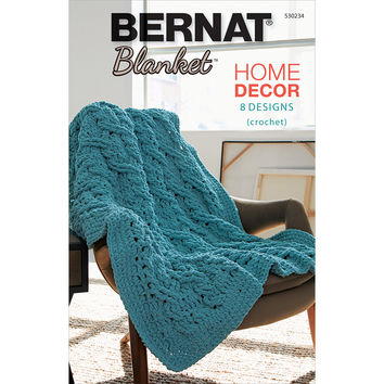 Bernat Blanket Yarn Home Decor Book 8 Crochet Patterns Using Bernat Blanket Yarn