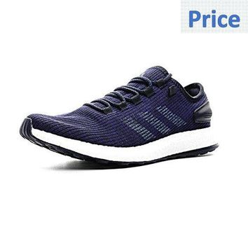 2018 Purchase adidas Pure Boost 2017 UK Trainers Navy Blue Footwear White shoes