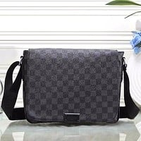Louis Vuitton Men Leather Purse Single-Shoulder Bag Crossbody