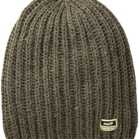 neff Men's Oil Pier Beanie, Olive, One Size