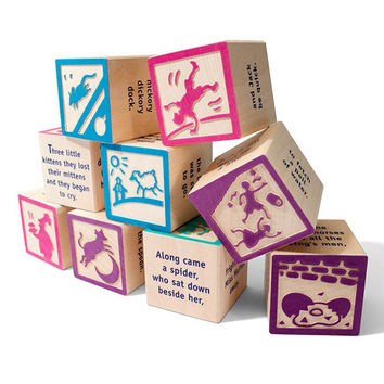 Nursery Rhyme 9 Wood Block Set