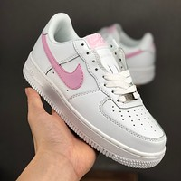 Nike Air Force 1 07 Low White Pink Women Casual Shoes - Best Deal Online