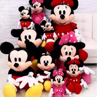 Top Selling 30cm Cute Mouse & Minnie Plush Toys Stuffed Soft Toy Stuffed Animals Toys Dolls Child Kids Toys Gift Minion Juguetes