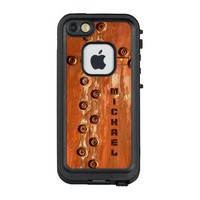 Grungy Copper with Rivets and Your Name on it. LifeProof® FRĒ® iPhone 5 Case