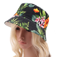2016 summer outdoor women fashion bucket hat for lady sun cap print casual sports fisherman caps spring flower hats