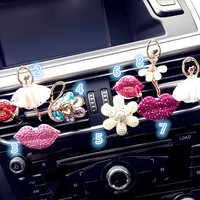 3D Alloy Bling Crystal Pendant Car vent clip, car air freshener, Car Accessory