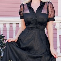 LILOU SWING DRESS IN BLACK