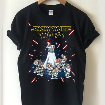 Snow White Star Wars T-shirt Men, Women Youth and Toddler