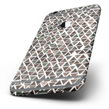 The Camo Watercolor Triangle Pattern Six-Piece Skin Kit for the iPhone 6/6s or 6/6s Plus