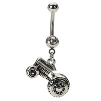 Tractor Belly Button Ring