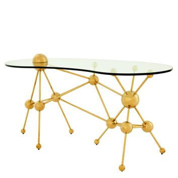 Gold Glass Home Desk | Eichholtz Galileo