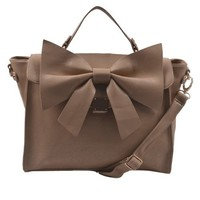Bow Purse- Taupe