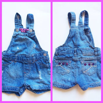 """Baby overalls - toddler overalls - colorful baby one piece outfit - """"Pop of Purple"""" overalls"""