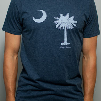 South Carolina State Pride Vintage Tee in Faded Blue by Rowdy Gentleman