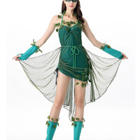 4 Pcs Wizard of Oz Halloween Costumes For Women Elf Princess Dress Elves Flower Fairy Costume Cosplay