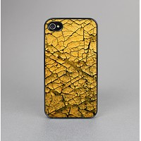 The Orange Cracked Surface Skin-Sert Case for the Apple iPhone 4-4s