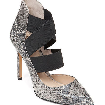 Vince Camuto Nigel Snake Pointed-Toe Pumps | Dillards