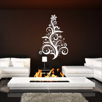 Christmas Tree Style D Swirly Removable Vinyl Wall Decal 22361