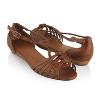 Grecian Leatherette Sandals
