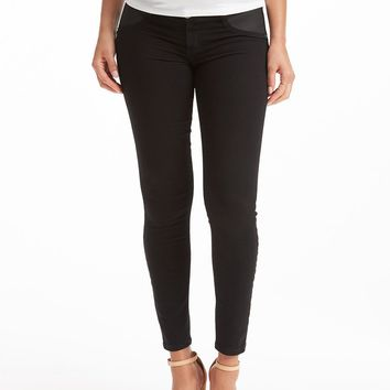 Current/Elliott Stiletto Maternity Jean - Jet Black