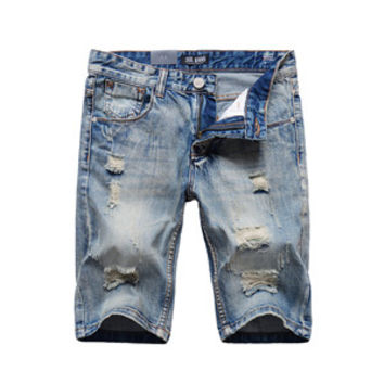 SLIM FIT DENIM JEAN SHORTS
