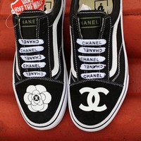 One-nice™ Vans X CHANEL Classics Old Skool Black Sneaker