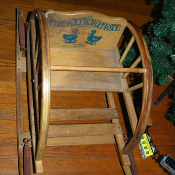 vintage baby rocker Teetertot photo prop vintage baby toy rocker