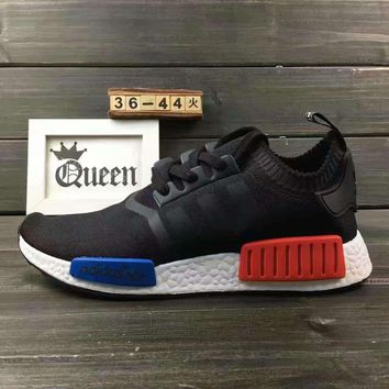 Beauty Ticks Women Adidas Nmd Boost Casual Nmd Sports Shoes Black Blue Red Soles