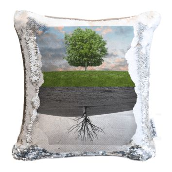 Tree of Life Photo Sequin Pillow