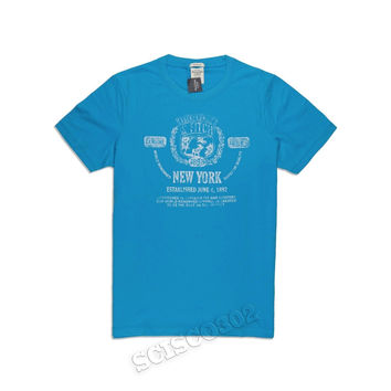 Abercrombie & Fitch T-Shirt Graphic Aqua Blue Tee Muscle Fit