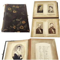 Victorian Photographs 53 Antique Cabinet and Tintype Photos