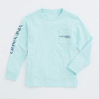 Boys Long-Sleeve Vineyard Vines Boat Graphic T-Shirt