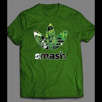 INCREDIBLE HULK SMASH COMIC BOOK ART SPORT T-SHIRT
