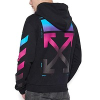 OFF-White Fashion Gradient Top Sweater Pullover Hoodie
