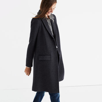 Teatro Swing Coat in Heather Grey : shopmadewell AllProducts | Madewell