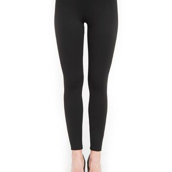 Lysse Taylor Seamed Legging - Black and Gray Tweed