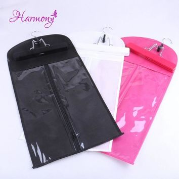 50pcs black white pink Hair Extensions Storage Bag Wig Hanger Hair Extension Package Suit Case Bags for Hair Weft Extensions